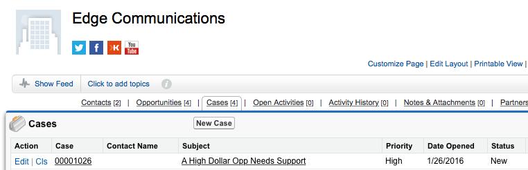 Salesforce Flow Account Case