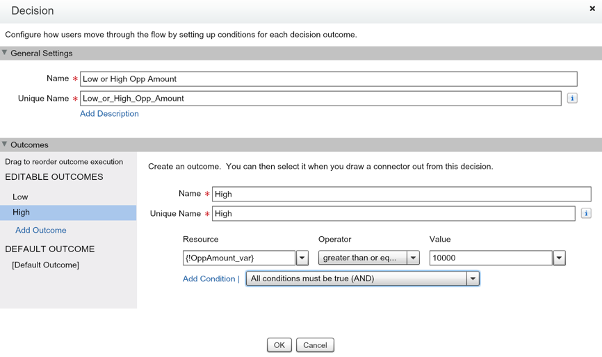Salesforce Flow Decision