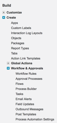 Salesforce Flow Menu