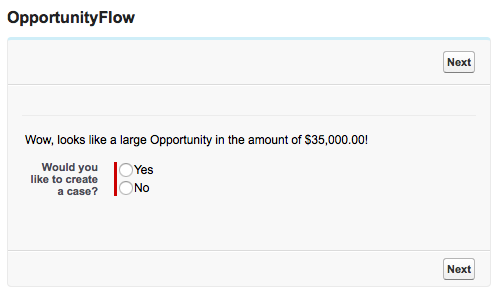 Salesforce Flow Opportunity Flow Screen
