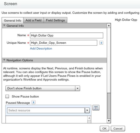 Salesforce Flow Screen