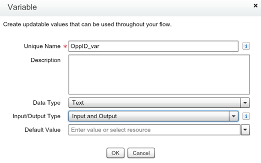 Salesforce Flow Variable