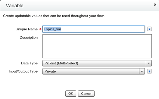 Multi-Select Picklist Flow - Variable Type