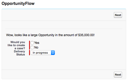 Salesforce Flow Defaults to Existing Value