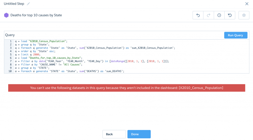 SAQL Join Multiple Datasets Salesforce Analytics Einstein Wave